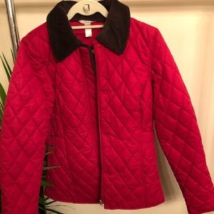 Jackets & Blazers - Red Quilted Barbour Style Coat
